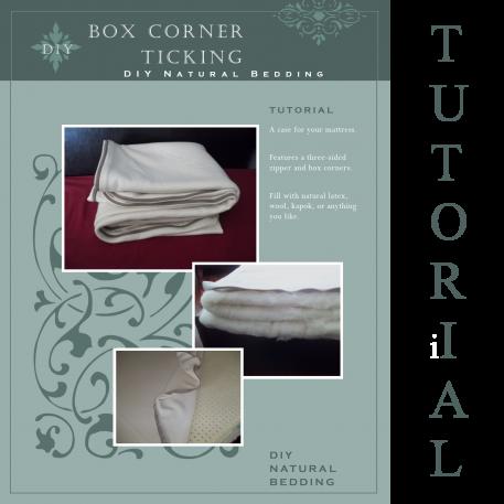 Box Corner Ticking Sewing Tutorial