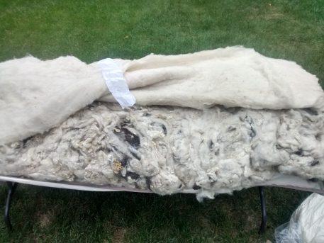 Assembling your DIY wool mattress