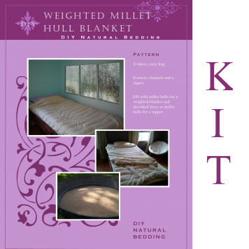 Millet Hull Weighted Blanket Kit